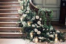 Weddings / Wedding flowers, table arrangements, pew arrangements, top table and cake table flowers