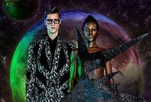 Long Tran - FW15 - VAMFIM / Another galaxy from Earth. As the name implies, this collection was inspired by the unknown world of the black hole and and explores the concept of interacting with Dark Matter using men's and women's garments as the medium. Graphic prints reminiscent of supernova highlight the men's collection.  The Lookbook was shot in a studio that was transformed into the Otherworld using fresh flowers and original paintings.