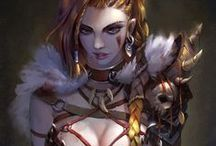 Characters - Fantasy - Warriors, Swordsmen and Assassins Artworks and Related
