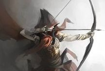 Characters - Fantasy - Archers, Rangers and Troopers Artworks and Related