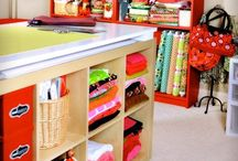 Craft Room and Studio Ideas / Ideas for my craft/sewing and artworks / by Elizabeth Kite