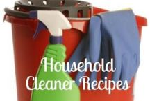 Clean Solutions / DIY andMake Your Own cleaner recipes for every room in the house. Most natural, although a few are not. Almost all made with ingredients you probably already have on hand!