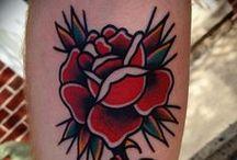 Old School Tattoos / Amazing Old school, traditional and sailor style Tattoos from all over the web --- Fantastici tatuaggi Vecchia scuola, da mariani e tradizionali trovati sul web e selezionati per voi da Tattoo Defender