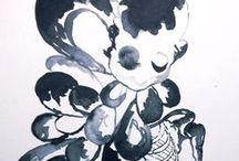 Watercolor/Aquarelle: LOUISE LAGONI / Watercolor/Aquarelle painting by the danish designer and artist Louise Lagoni.