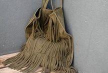 fringes / handmade fringe clutch