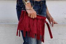 boho style by cache / boho handmade leather bags
