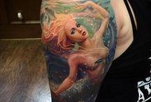 Mermaid tattoo, tatuaggi sirena / tatuaggi di sierene