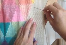 Creative Fun | Weaving Inspiration / Images of fluffy, pretty, draping weaves.