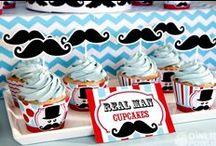 Little Man Mustache Party / Get stache'd! It's a Mustache bash Party! visit us on www.owliepowlie.com