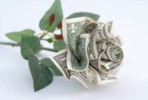 Origami 	<|> / All types of paper, or money Origami. / by Juanita Fortier