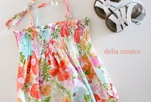 CLOTHES FOR KIDDIES / Girl's dresses to sew