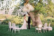 Wedding in a garden / Outdoor wedding ideas