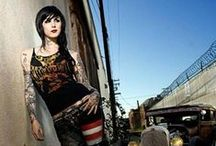 Kat Von D, style, makeup and hairstyles :)