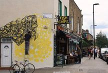 Street Art in London / Creative graffitis dispatched all over London.