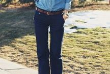 Flared Jean Outfits / Inspiration for how to wear those vintage flared jeans.