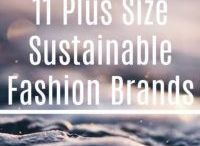 Plus Size Sustainable Fashion / A board with all the best sustainable and ethical plus size fashion. A point to note, not all of the brands use plus size models but they still make the clothes over a UK size 16.