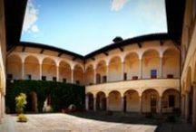 Museo Internazionale del Design Ceramico / #PalazzoPerabò home of #MIDeC - International Museum of ceramic design. The exterior, the courtyard and the exhibition halls. #Cerro - #LavenoMombello
