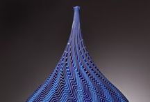 Ceramic shades of blues / colorful pottery