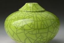Ceramic shades of green / colorful pottery