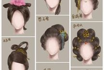 Tutorials: hair / how to draw different hairstyles
