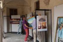 """Allestimento mostra """"IL MIO LAGO"""" dipinti di Ivo Tomasi / Venerdì 5 settembre 2014 alle ore 21.00, al MIDeC di Cerro - Laveno Mombello, inaugurazione in musica della mostra """"IL MIO LAGO"""" dipinti di Ivo Tomasi. Ecco alcune fasi dell'allestimento."""