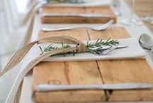 Table Settings / Inspiration for beautiful place settings