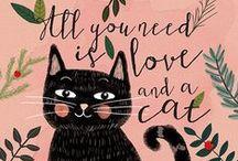 Cats = Love / Beautiful Cats & Cat-Related Art & Design