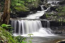 garden fountain & waterfall