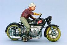 old toys - motorbikes etc.