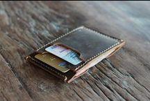 front pocket leather wallet / leather front pocket wallet
