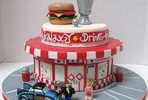50's...80's / cakes & cookies ideas The Beatles Muppet Show Super Mario Pac Man juke box roller skating disco party...