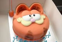 Character Cakes / cakes & cookies inspired by Garfield/The Rugrats/Asterix & Ovelix/The Flinstones/Scooby Doo/Popeye/Minions/Angry Birds/Harry Potter/Spongebob/...