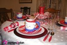 Snowman Decor, Food and Tablescapes / Ideas for decorating your holiday tables with a snowman theme