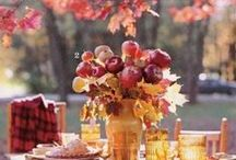 Fall Decor, Food and Tablescapes / Ideas for ways to decorate your home, make fun foods, and set your holiday tables for fall.