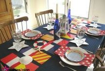 Coastal and Nautical Tablescapes / Ideas for coastal and nautical tablescapes