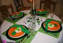 St. Patrick's Day Decor, Food and Tablescapes / Ideas for St. Patrick's Day table decorations and parties as well as fun foods for the special day