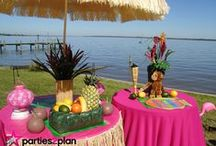 Luau Party Decor, Food and Tablescapes / Ideas for decorating and celebrating with a tropical flair