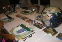 Terrific Tablescapes / Look at these tablesettings for many creative ideas to use at home.