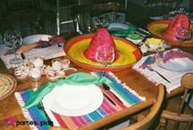 Fiesta Party and Tablescape Ideas / Planning a fiesta--check out the colorful ideas for a Mexican-styled party!