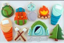 Camping / cakes, cupcakes & cookies ideas