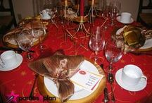 Dazzling Dinner Party Decor / Check out ideas of ways to jazz up your table decorations for your next dinner party--be it formal or casual!