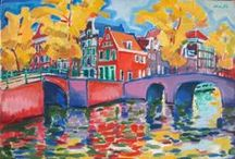Nederland, Pays-Bas, The Netherlands (01) / Illustraties, affiches, tekeningen, schetsen, schilderijen, aquarellen ... / Illustrations, affiches, dessins, esquisses, peintures, aquarelles ...