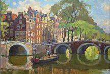 Nederland, Pays-Bas, The Netherlands (02) / Illustraties, affiches, tekeningen, schetsen, schilderijen, aquarellen ... / Illustrations, affiches, dessins, esquisses, peintures, aquarelles ...