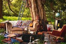 La vie boheme / bohemian style in interior and outdoor decor