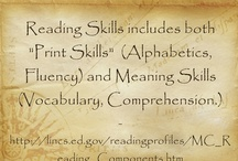 Reading Skills / This board features resources on word analysis, fluency, vocabulary and comprehension.