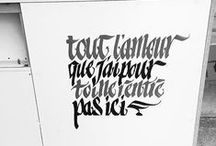 Hand written & drawn