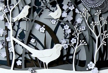Helen Musselwhite / Helen Musselwhite is an illustrator from Manchester, works with paper, coloured and painted, hand cutting detailed and multi layered scenes inspired in the main by the natural world and its inhabitants (Source: Handsome Frank Illustration Agency)