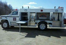 trucks converted into traveling pizza ovens on wheels. / Pizza truck conversions.