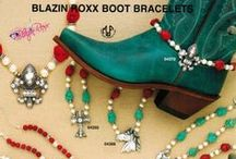 Boot Bracelets from Blazin Roxx. Boot Bling for your boots. / Boot Bling Boot Bracelets from Blazin Roxx. Bling up your boots with beads, western charms and rhinestones. 22 styles available from Blazin Roxx.