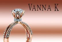 Vanna K Engagement Rings / Inspired by femininity and art deco design, Vanna K's unique engagement rings are classic and represent timeless elegance. Each ring is crafted with quality metals and diamonds, giving each its own story. Vanna K is all about fulfilling a woman's desires- her desire to feel beautiful, and loved.